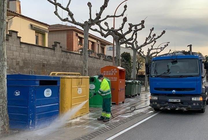 Servei especial de desinfecció de contenidors