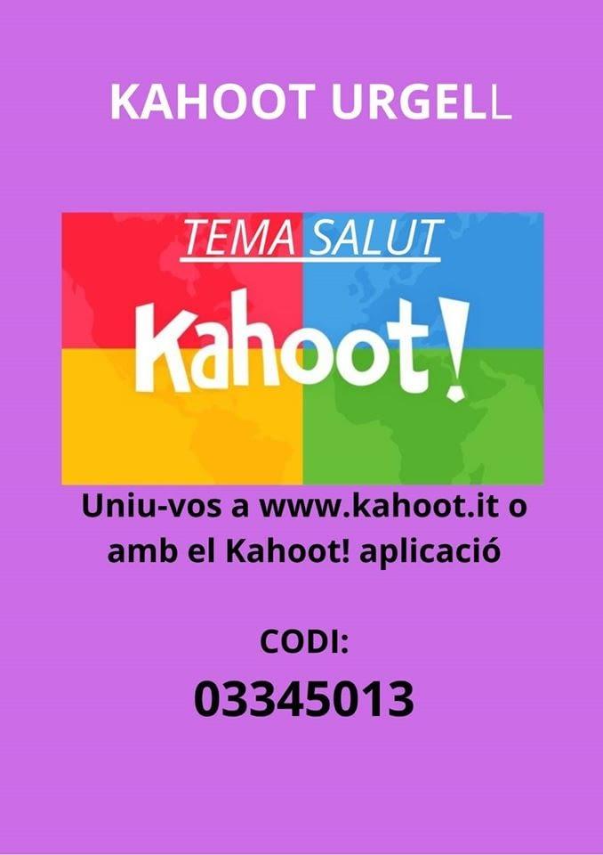 CONCURS KAHOOT URGELL, 2n tema: