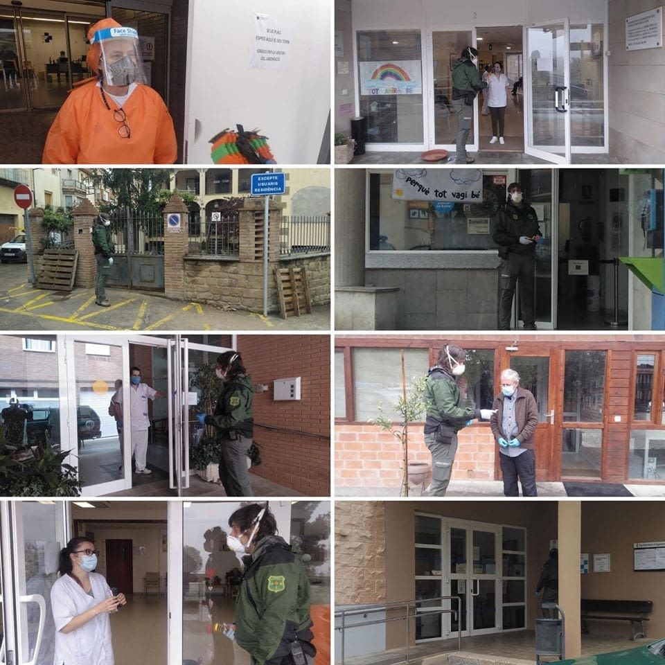 Avui els @agentsrurals han fet arribar a les residències i els CAP de la comarca 500 salvaorelles
