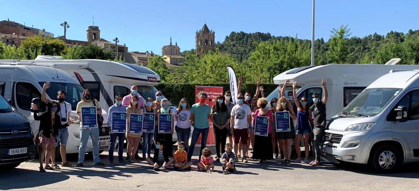Vanwoow i la comarca de l'Urgell inauguren 11 noves zones de pernocta per atraure turisme d'autocaravanes i campers.