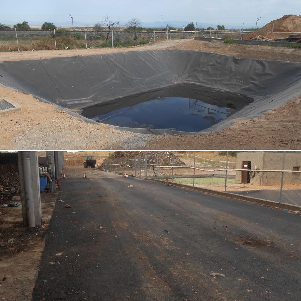 Obres de la bassa de lixiviats i del vial perimetral de la Planta de Compostatge