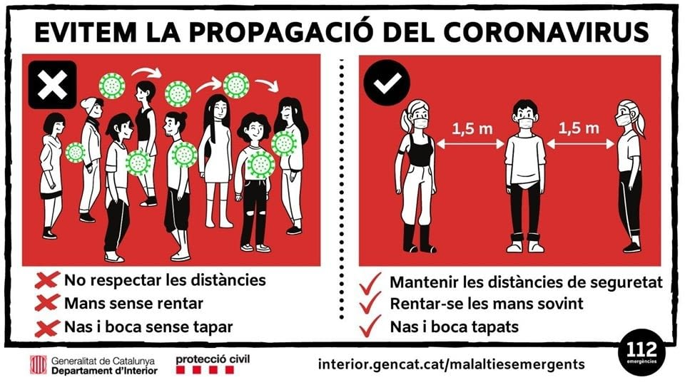 Evitem la propagació del Coronavirus
