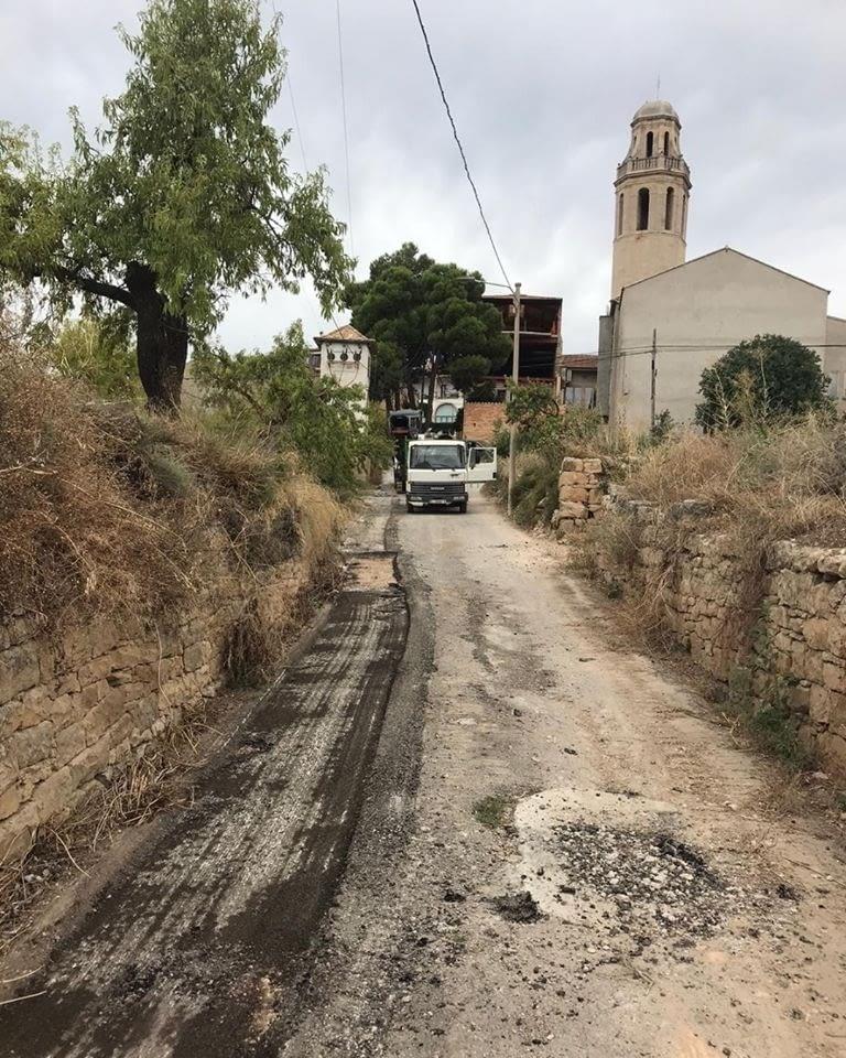 Reurbanització del camí de la Costa de la Ribera de Sant Martí de Maldà