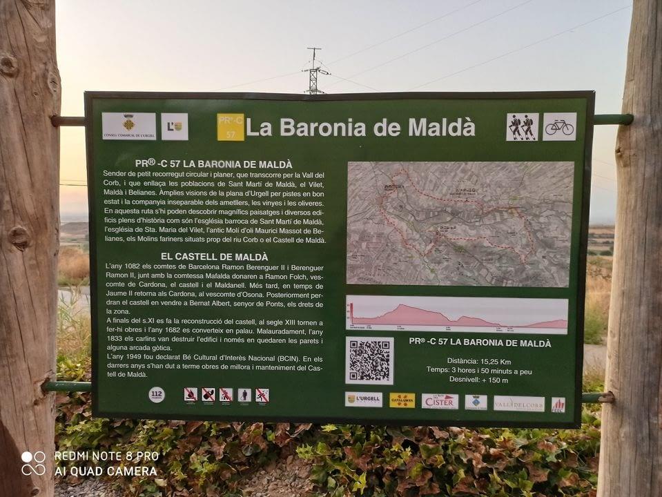 Continuem amb el manteniment de la senyalització informativa i direccional de les rutes de senderisme i BTT de la comarca