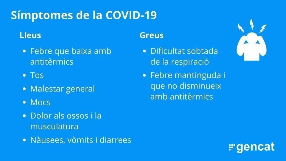 Aquests són els principals símptomes que provoca la COVID19