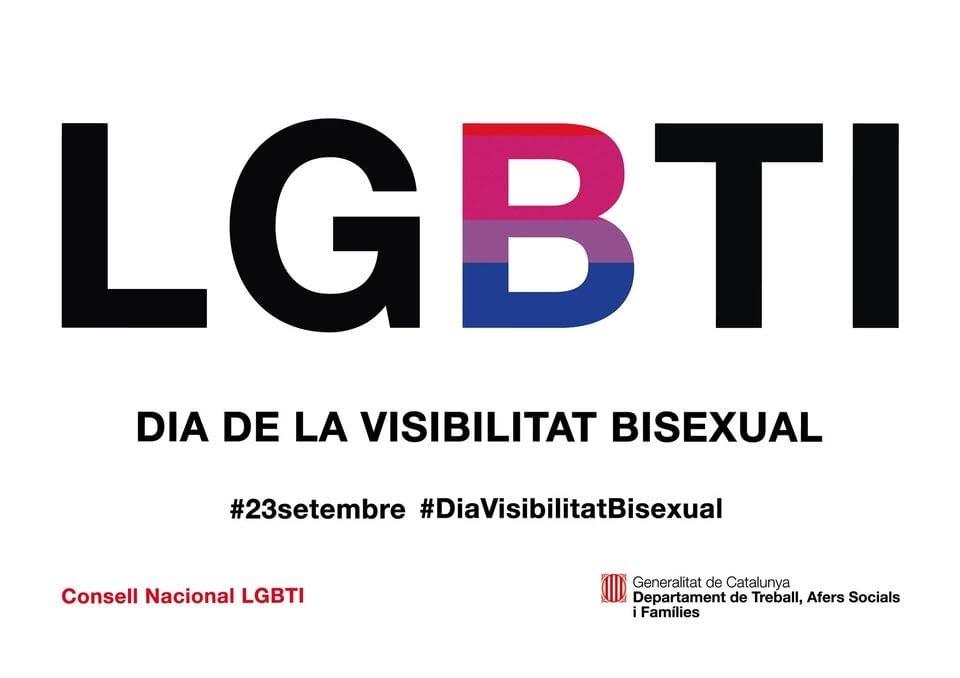 Avui 23 de setembre és el el Dia de la Visibilitat Bisexual