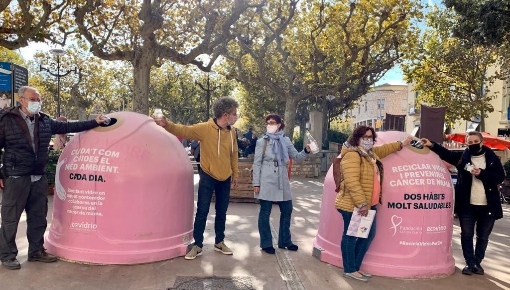 L'Ajuntament de Tàrrega i el Consell Comarcal de l'Urgell s'adhereixen a la campanya solidària d'Ecovidrio amb motiu del Dia Mundial del Càncer de Mama