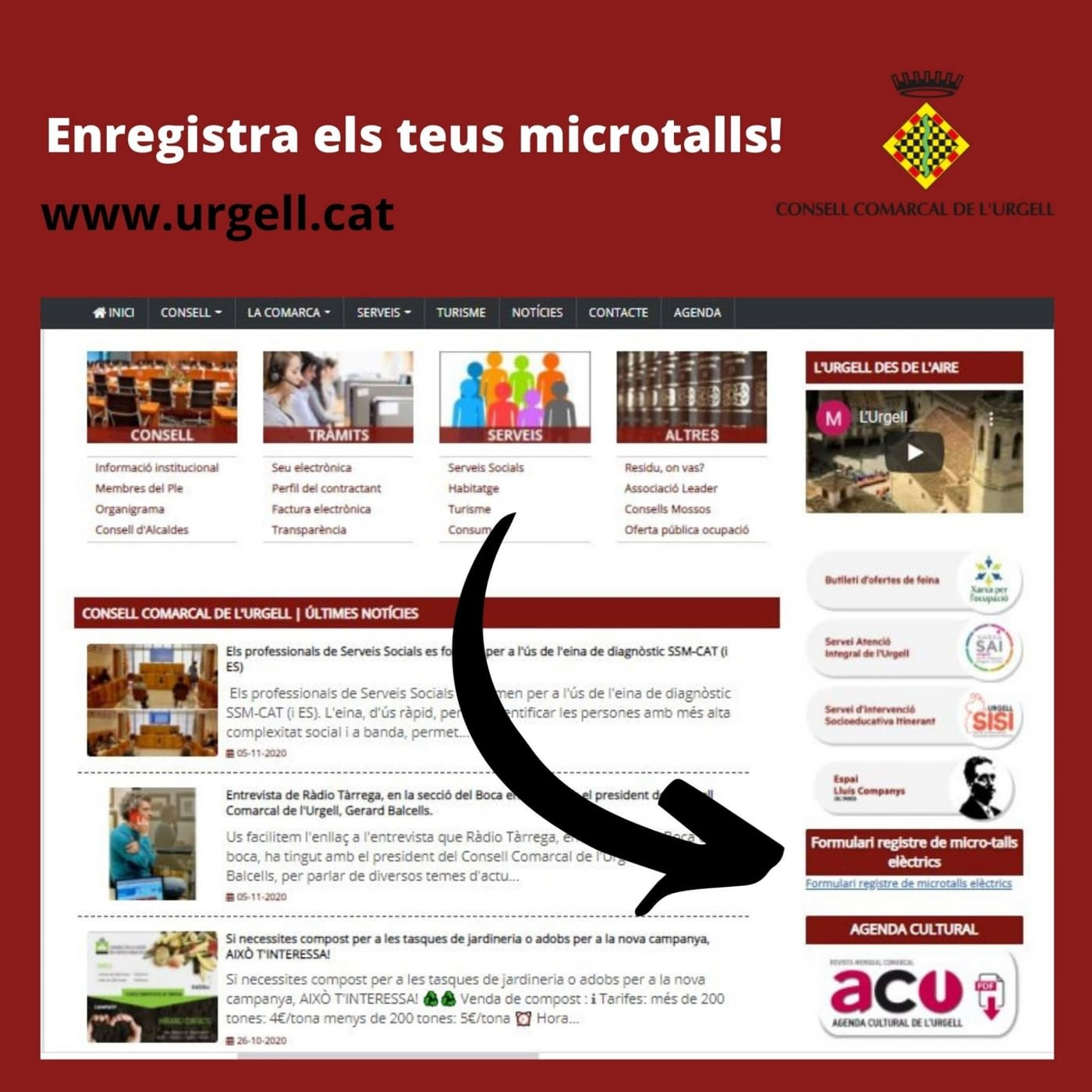 Registre de microtalls elèctrics de l'Urgell