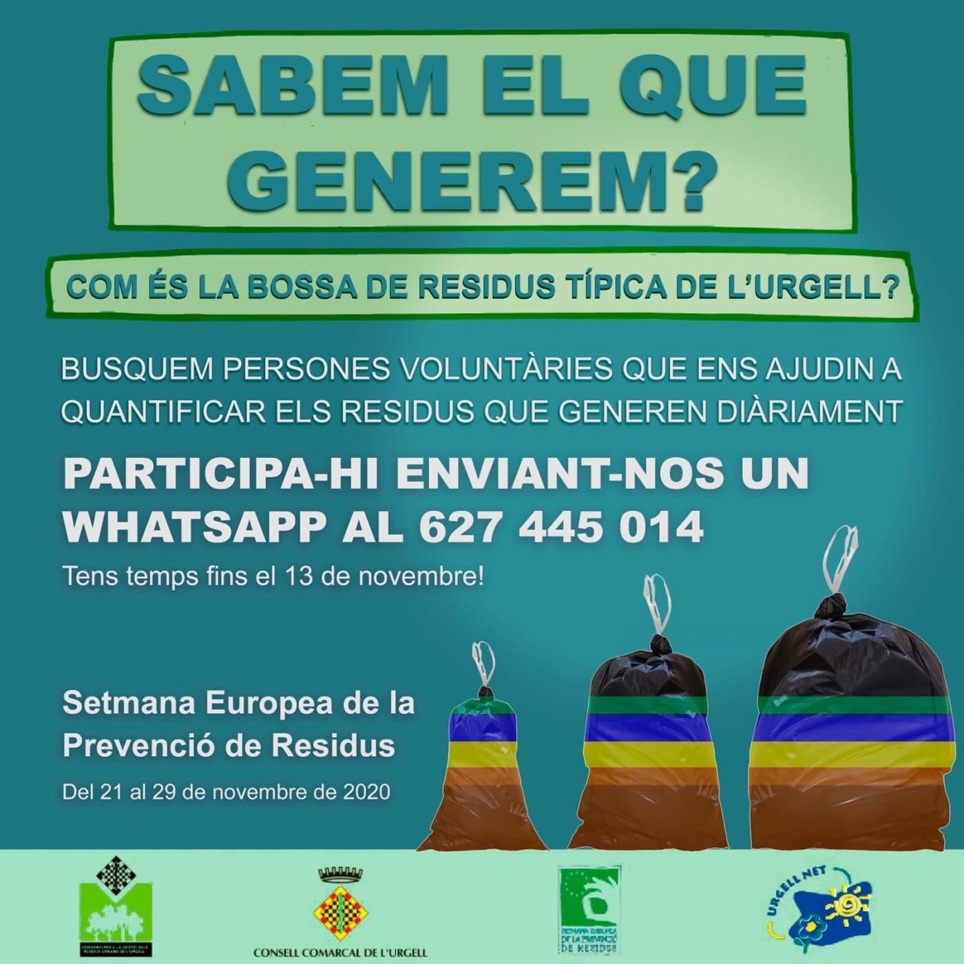 Campanya de prevenció de residus SABEM EL QUE GENEREM?