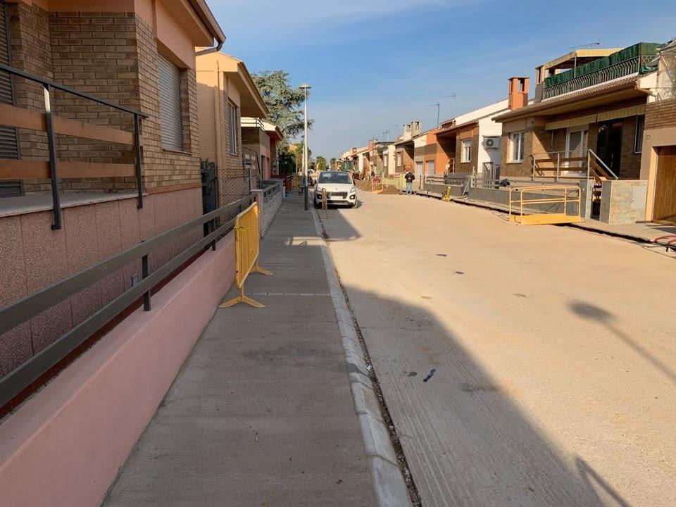 Execució de les obres d'urbanitazació dels carrers de Castellserà