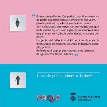 Tallers sobre la violència de gènere i micromasclismes