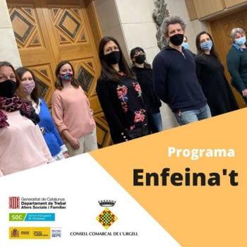 El programa ENFEINA'T ocupa a 10 persones durant el 2020
