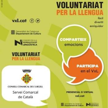 Participa al VOLUNTARIAT PER LA LLENGUA virtual!