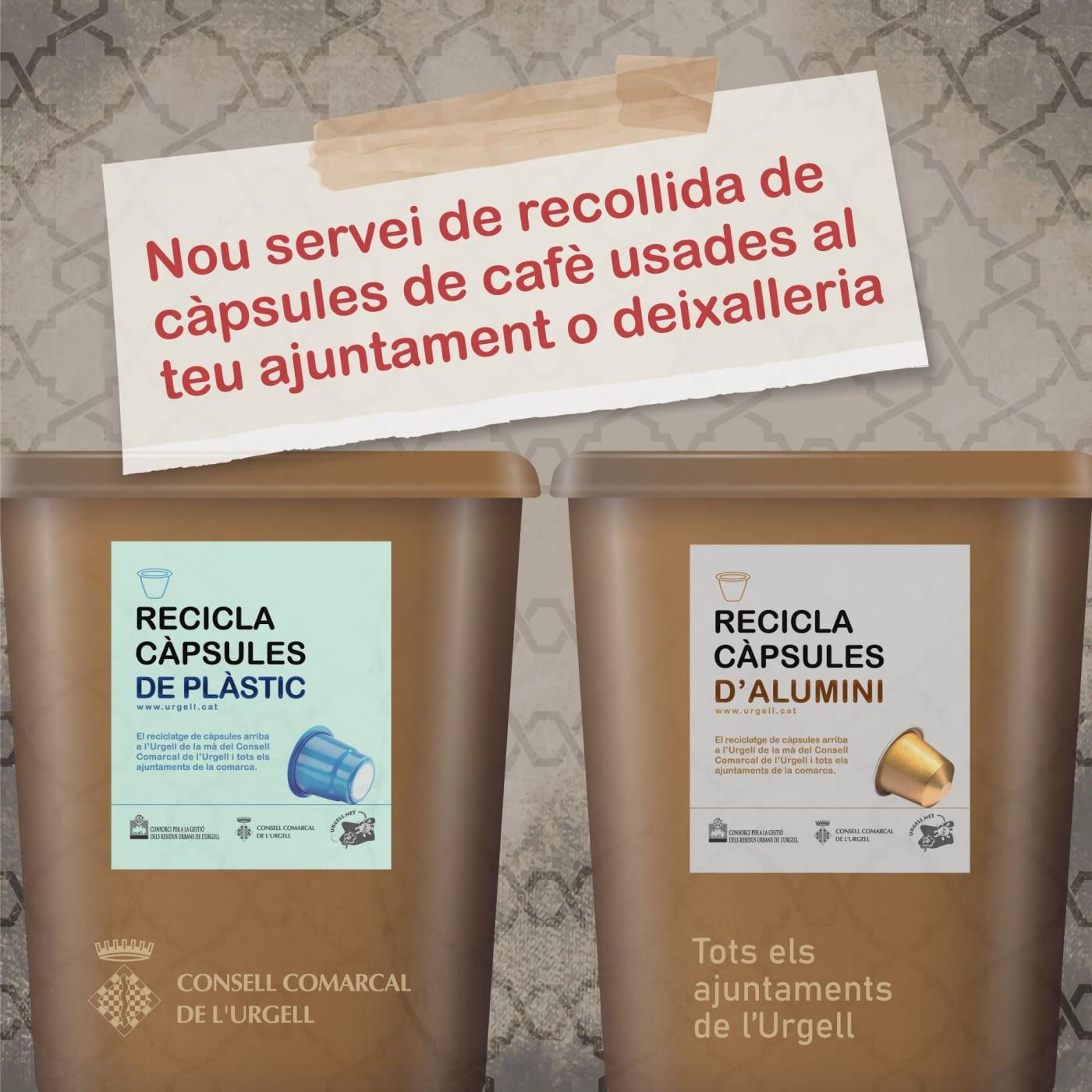 A partir d'ara, les càpsules de cafè usades es reciclen al teu ajuntament o deixalleria!
