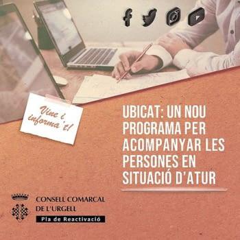 Coneixes l'UBICAT? és un programa per acompanyar les persones en situació d'atur.