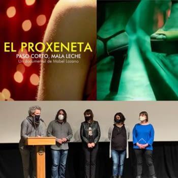 """Presentació al teatre Armengol de #Bellpuig del documental """"El proxeneta"""" de Mabel Lozano."""