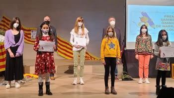 Acte de lliurament del 15è premi Sambori de narrativa escolar d'Omnium Cultural Segarra-Urgell
