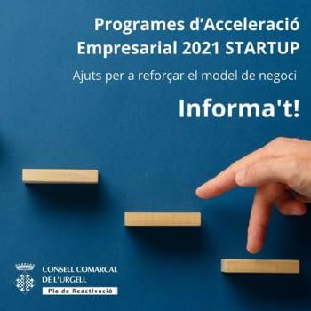 Programa LLEIDA STARTUP: Ajuts per a reforçar el model de negoci que tinguin un component innovador