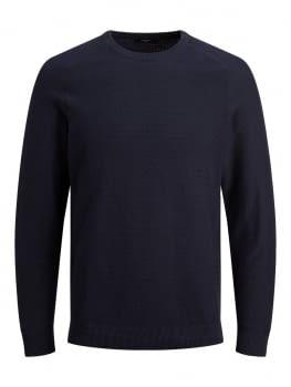 JPRBLAADAM jersey texturizado con cuello redondo