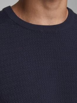 JPRBLAADAM jersey texturizado con cuello redondo - 4