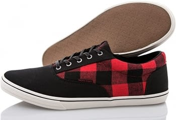 Sneaker Jfwvision canvas check print - 1