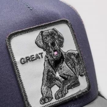 Gorra trucker gris perro gran danés Big D de Goorin Bros - 2