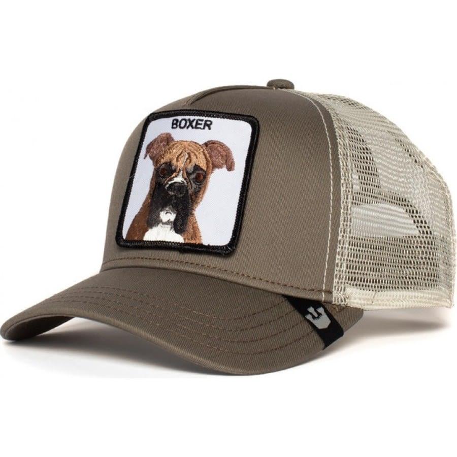Gorra trucker gris perro bóxer Boxer de Goorin Bros