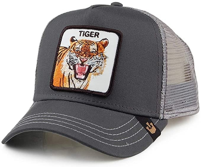 Gorra trucker gris tigre Eye of the Tiger de Goorin Bros