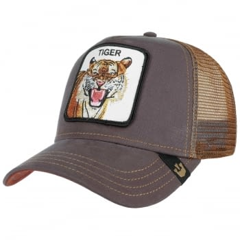 Gorra trucker marrón tigre Eye of the Tiger de Goorin Bros