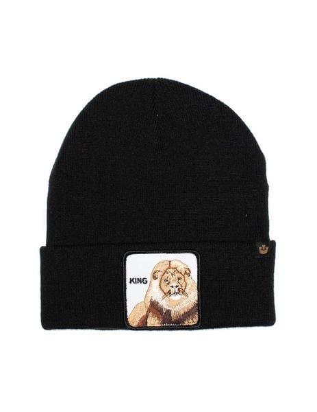 Gorro negro león Hear Me Roar de Goorin Bros