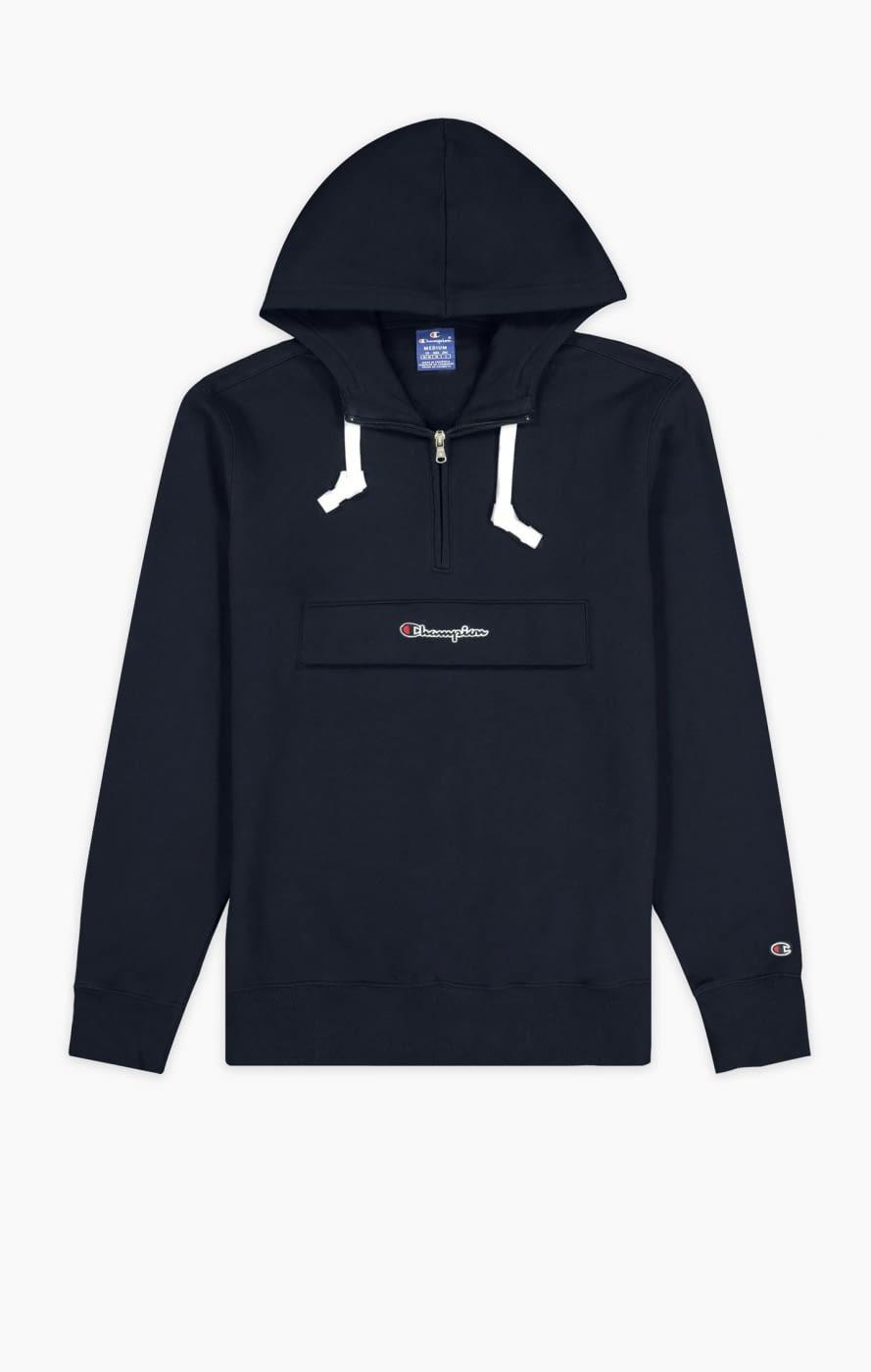 Half zip hooded sweatshirt marino