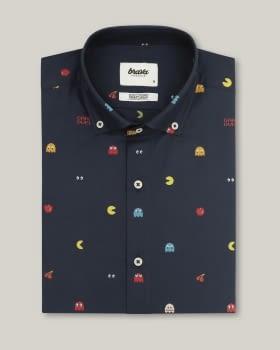 Camisa manga larga Pac Man Navy