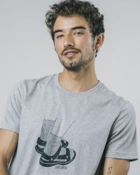 BRAVA camiseta manga corta Socks Appeal Grey