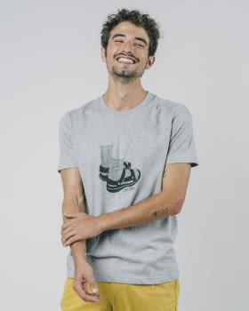 BRAVA camiseta manga corta Socks Appeal Grey - 2