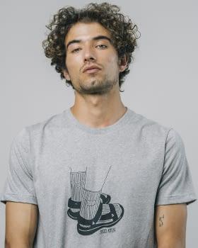 BRAVA camiseta manga corta Socks Appeal Grey - 4