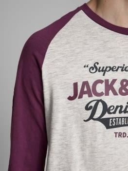 JJERAGLAN LOGO camiseta de manga larga con logo estampado - 4