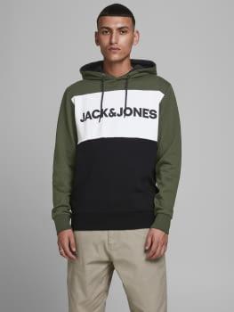 JACK & JONES sudadera JJELOGO BLOCKING - 5