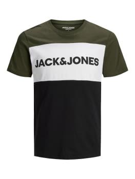 JACK & JONES camiseta manga corta JJELOGO BLOCKING