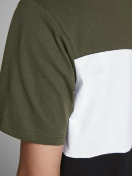 JACK & JONES camiseta manga corta JJELOGO BLOCKING - 3