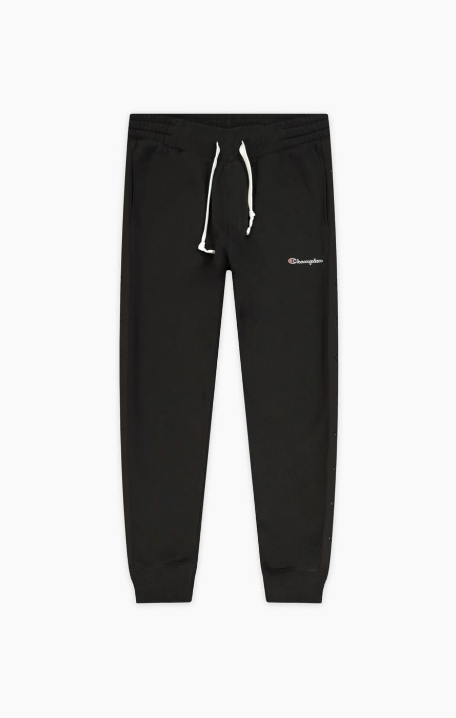 Rib cuff pants negro