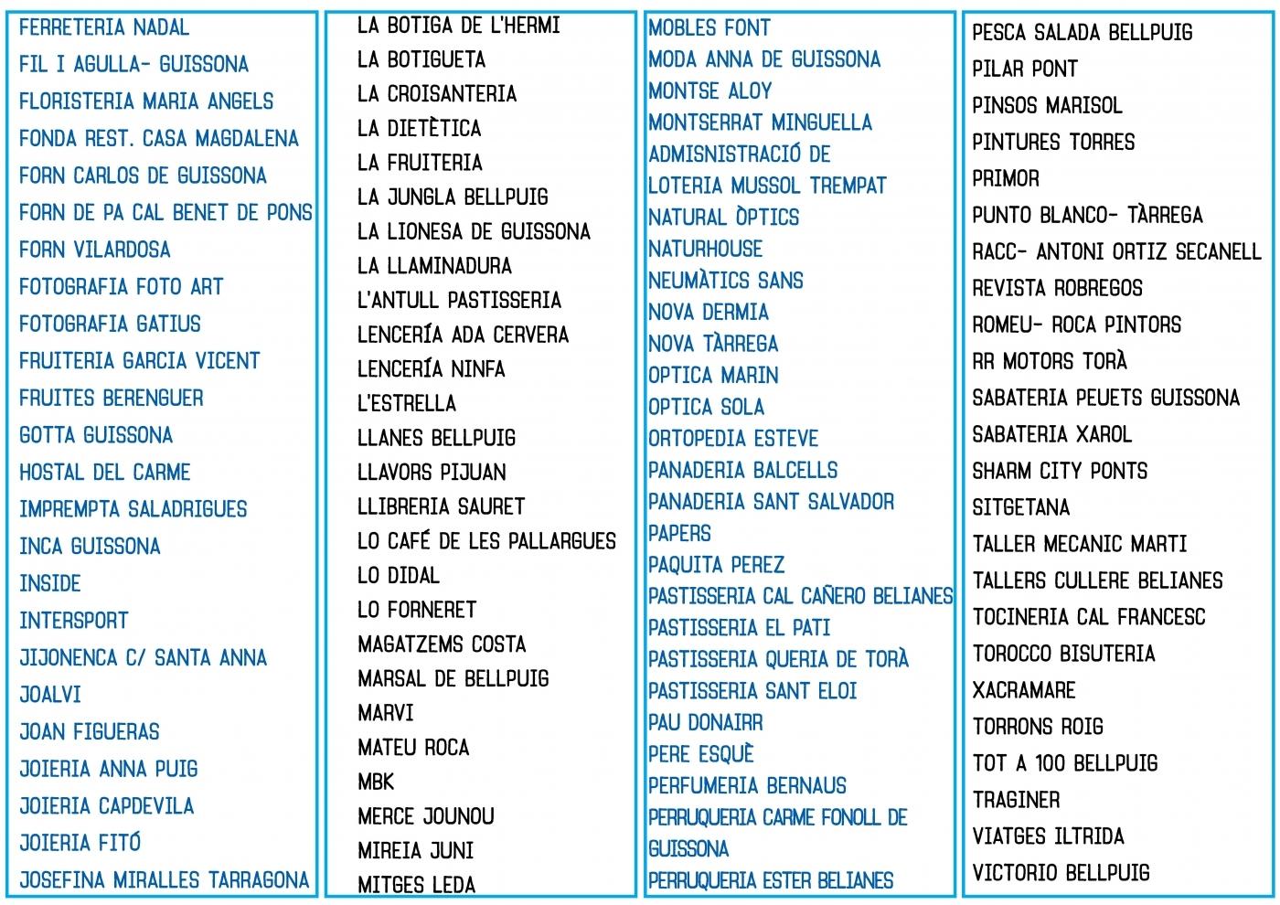Llista participants