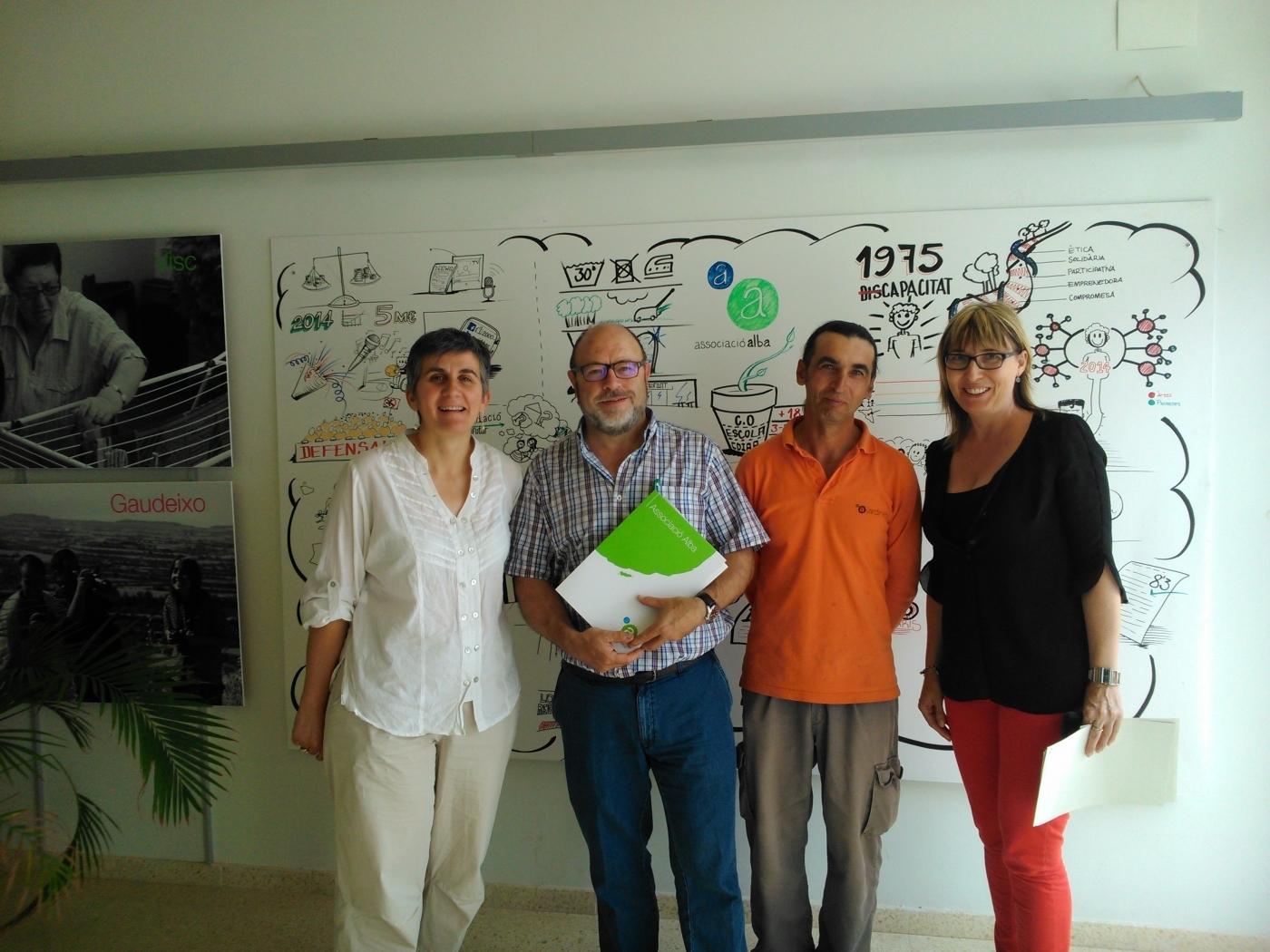 Alba renova el conveni de jardineria amb l'Ajuntament de Vallbona de les Monges