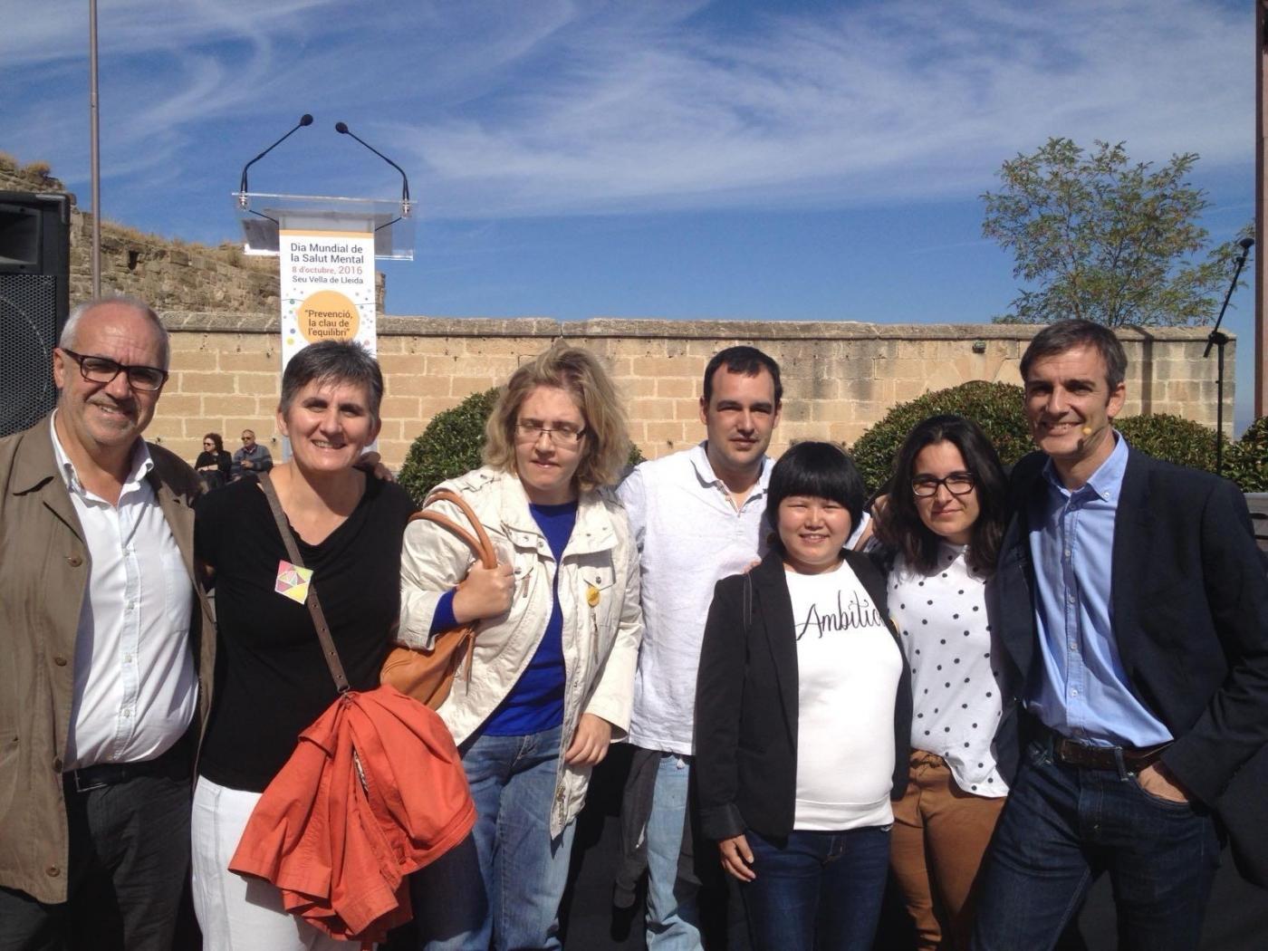 Alba jussà participa en el dia Mundial de la Salut Mental.
