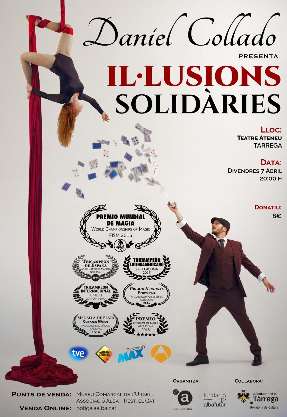 """El mag Daniel Collado, premi mundial 2015, presenta """"Il·lusions Solidàries"""" en benefici de l'Associació Alba"""