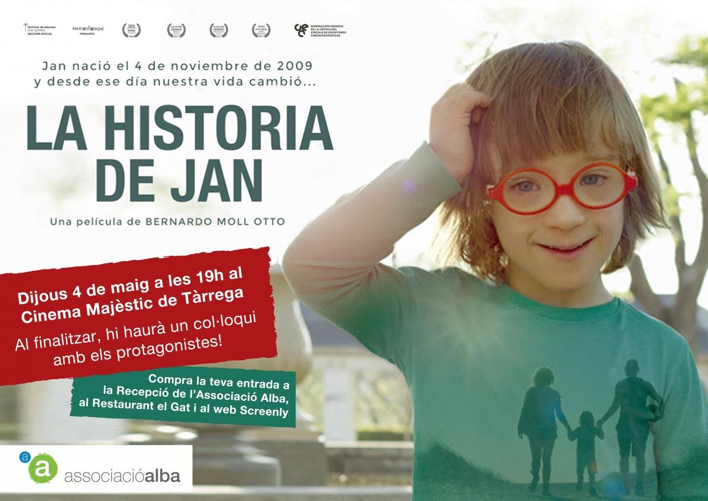 """L'ASSOCIACIÓ ALBA PORTA A TÀRREGA EL FILM """"LA HISTORIA DE JAN"""" AMB LA PRESÈNCIA DELS SEUS PROTAGONISTES"""