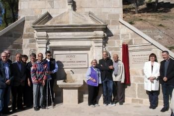 S'inaugura la font de Mossèn Josep Garriga al Parc de Sant Eloi