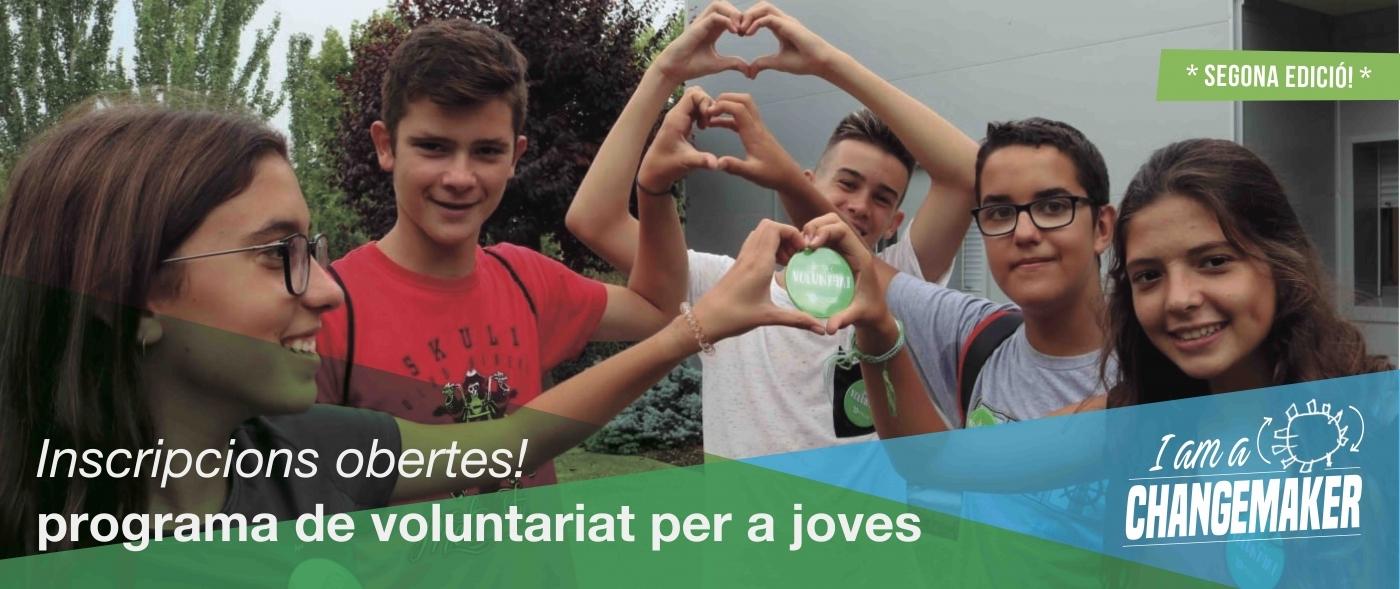 """Convidem als joves a ser """"changemakers"""" a través de la 2a edició del Programa de Voluntariat"""