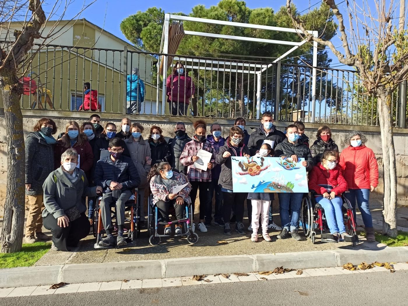 Es presenta el disseny del mural que es pintarà al mur exterior de l'Escola Alba de Tàrrega coincidint amb el Dia Internacional de les Persones amb Discapacitat.