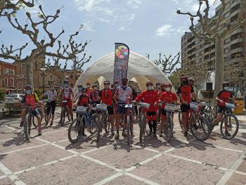 L'esportista Jaume Rovira i el Consell Esportiu de l'Urgell aconsegueixen recaptar 570€ amb la ruta solidària Transurgellenca a favor dels projectes d'esport inclusiu i salut del Grup Alba.