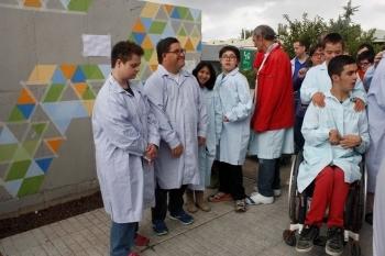 Celebrem els 40 anys pintant un mural amb la col·laboració de l'ESDAP ONDARA de Tàrrega